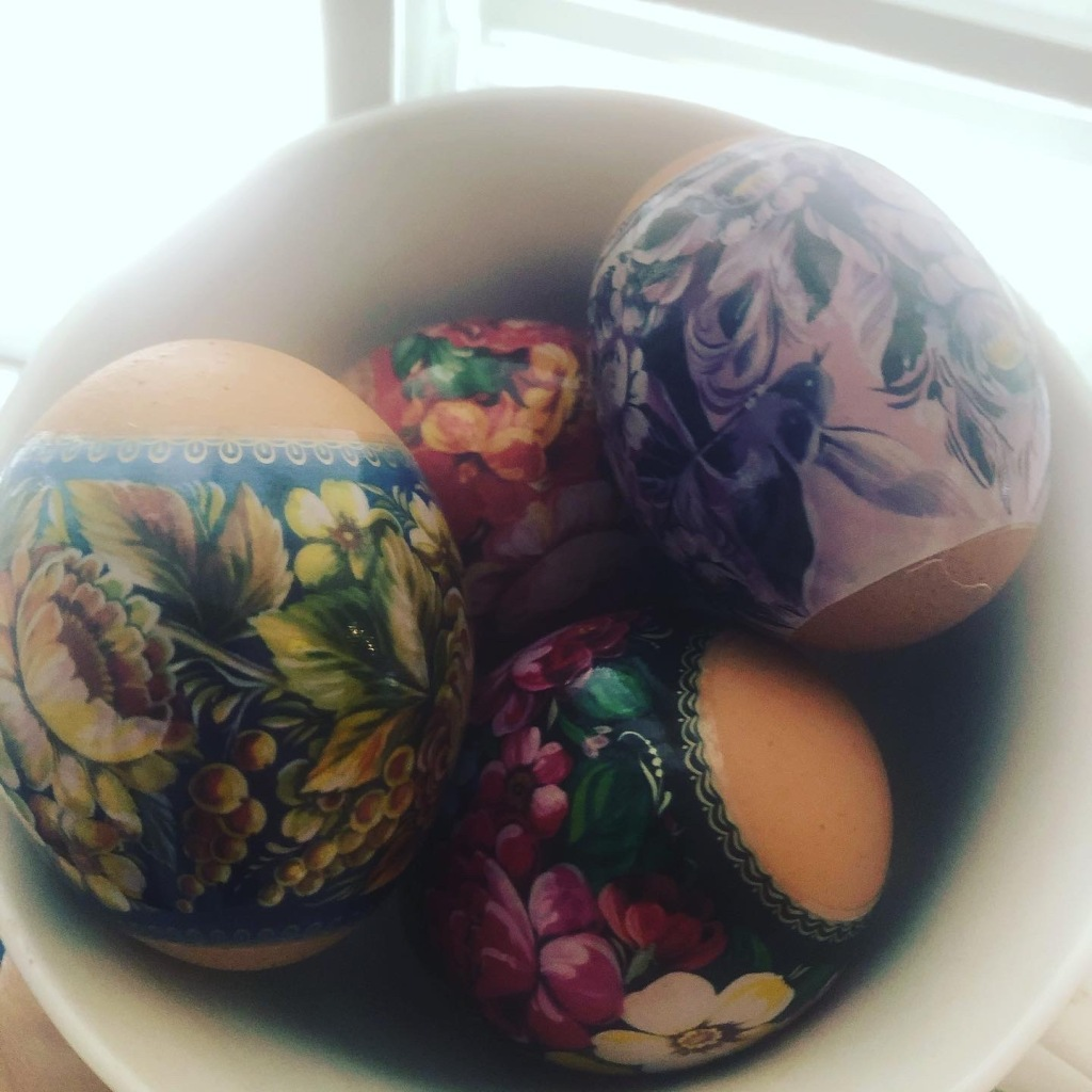 Polish-style Easter eggs, Pisanki.
